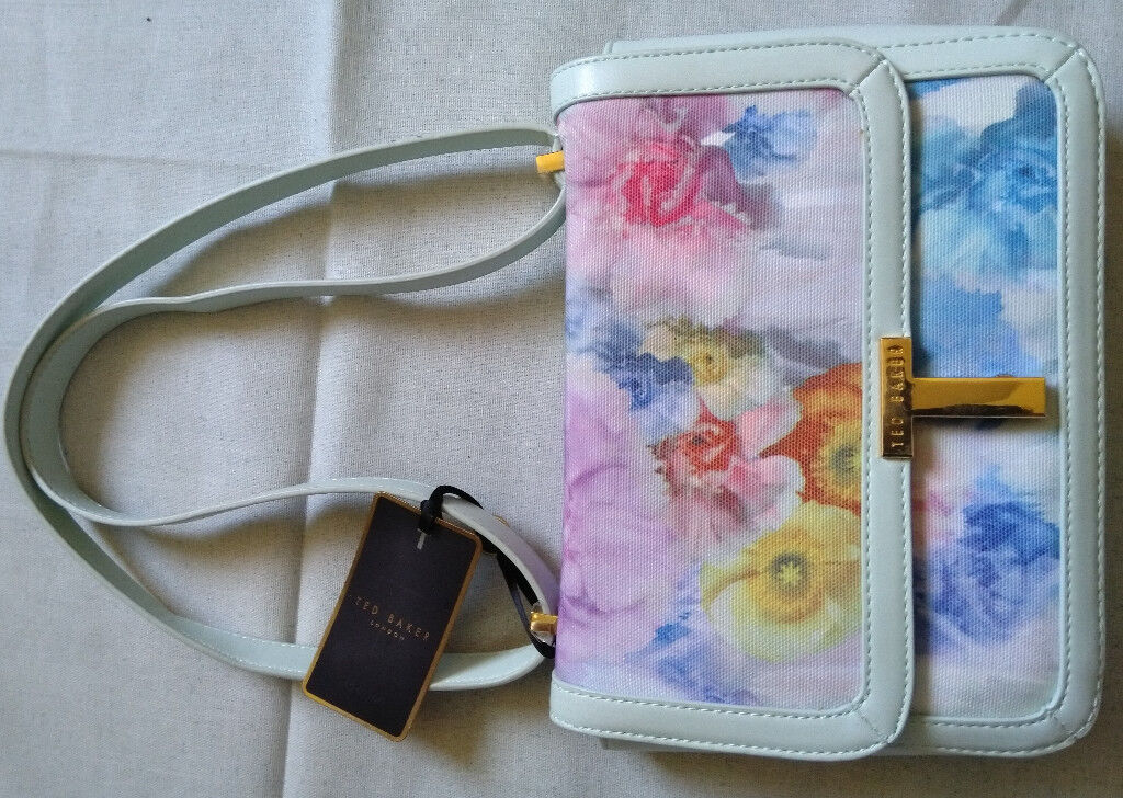 TED BAKER Handbag - Pale green suround with beautiful summer flower design BN