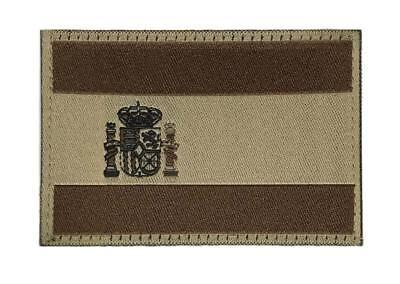 Parche bandera España bajo perfil árido alta calidad militar CLAWGEAR, con cinta