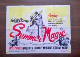 summer magic ' hayley mills ' original 1960s cinema poster