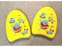 Zoggs Children's Zoggy Mini Easy 2x Learn to Swim Float Kickboard - Yellow, 3-12