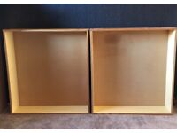 2 x underbed wooden storage drawers on wheels , free delivery