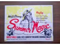 hayley mills ' summer magic ' original 1960s cinema poster
