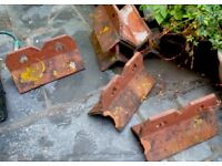 Roof Ridge tiles with two clover leaf holes