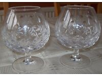 Pair of Crystal Brandy Glasses