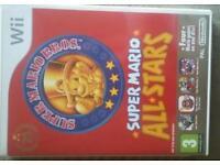 Mario all stars wii + sonic superstar racing