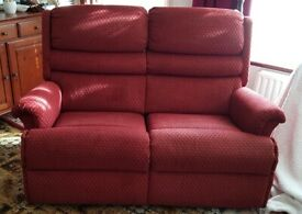 2 seater sofa recliner & matching single recliner chair
