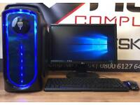 Brand New Fast Gaming Pc Computer 6 Core 8GB Ram SSD 2GB Graphics Card Free Delivery Minecraft