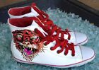 Ed Hardy Leather Fashion Sneakers Casual Shoes for Men