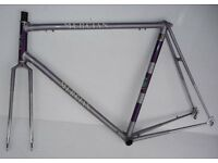 DAMAGED REPAIRABLE VINTAGE 'KING OF MERCIA' MERCIAN RACING BIKE FRAME (1970)