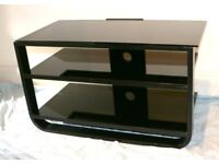 Alphason 800 Black Metal and Glass TV Stand.