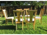 6 dining chairs set wooden reception washable cushion modern chairs FREE DELIVERY WITHIN LE3