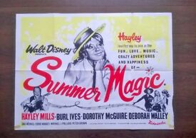 summer magic ' hayley mills ' original 1960s cinema poster