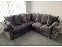 🔵💖🔴AMAZING OFFER🔵💖🔴Brand New Merilyn Plush Velvet 3+2 / Corner Sofa / Swivel Chair / Footstool