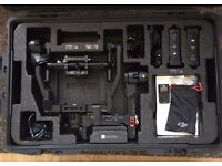 DJI Ronin with 2 Batteries, Extension Arms and Thumb Controller and ard Case