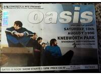 Rare oasis ticket stub