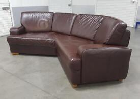Sofology - Real Italian Leather Curved Corner Sofa