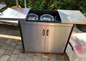 Plates Warmer Cupboard Stainless Steel Cafe Restaurant Equipment