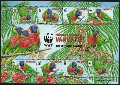 VANUATU 2011 - WWF RAINBOW LORIKEETS SHEETLET - MNH