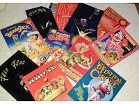 Collection of 95 x Circus and Variety programmes, 4 posters and 2 scarves.