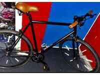 ✅ large 22 inch/black/brown refurbish flip-flop Single Speed Road cycle 📲