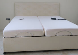 Laybrook 'Winchester' Dual 6ft adjustable bed with headboard - Quick sale needed!