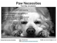 Paw Necessities - Local dog walking/sitting/home boarding services
