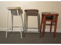 3 retro joblot breakfast bar stools high stools cafe stools FREE DELIVERY WITHIN LE3