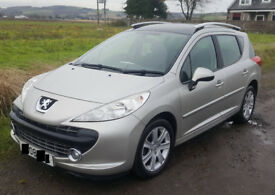 2008 Peugeot 207 SW 1.6 HDI diesel year MOT TAX 30 pounds