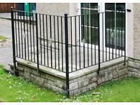 Black metal garden patio railings