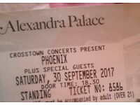 PHOENIX TICKETS (Under face value, by post)