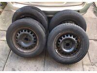 """14"""" 4x100 steel wheels vw vauxhall renault 185/70"""