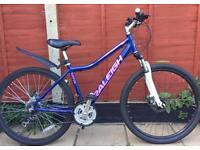 """Unisex adults Raleigh NOVA bike. 17"""" Frame 27.5"""" Wheels. Disk Brakes. Fully working RRP. £140"""