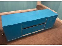 Electric Blue TV Media Unit cabinet - ideal for XBOX PS4 console