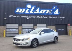 2015 Volvo S60 T6 PREMIER PLUS! AWD! $115/WEEKLY@5.86% LEATHER!