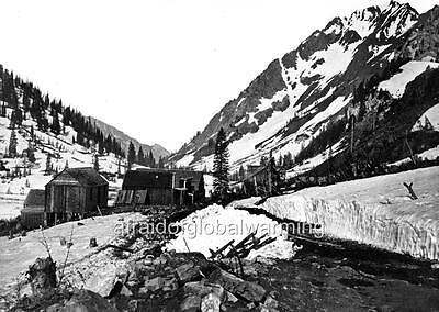 Photo 1869 Mining Town Wasatch Mountains Salt Lake Utah