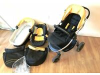 Hauck Priya baby 3-1 pram pushchair car seat Travel System