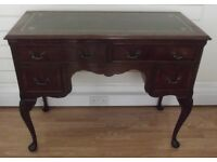 Leather Topped Mahogany Kneehole Desk