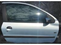 Peugeot 206 02 Fever Moonstone Blue Complete Door
