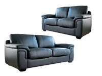 Brand New 3+2 Leather Sofa Or Corner Sofa. Comes In Black, Brown & Cream. Real, Bonded Or Fabric