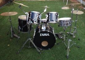 Full Drum Set - Tama Drums - Zildjian Cymbals - Paiste Cymbals