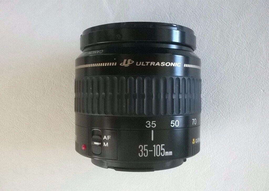canon e.f. ultrasonic 35 -105 mm zoom lens for eos + canon eos 1000f ' 35mm film camera body