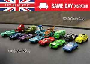 14PCS NEW Pixar Disney Toy Cars 2 set Action Figure classic McQueen Truck Mattel
