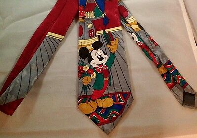 Disney Mickey Mouse going on a Date with  hat  Flowers primary colors  Tie