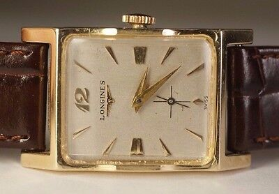 1950's Longines 14K Solid Yellow Gold 17j LXW 9LT Vintage Swiss Luxury Watch