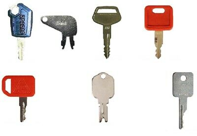 7 Heavy Construction Equipment Ignition Key Set The Basic Keys For Operators