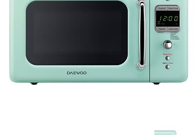 Daewoo Retro 0.7 CuFt 700W Microwave KOR-7LRE  LIGHT GREEN