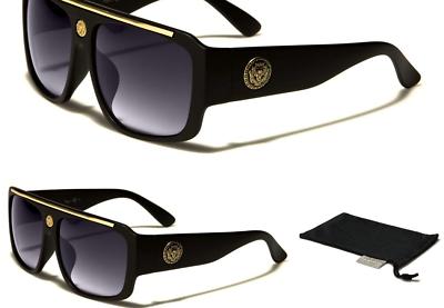 Kleo Flat Top Hip Hop Rapper Retro Aviator Sunglasses
