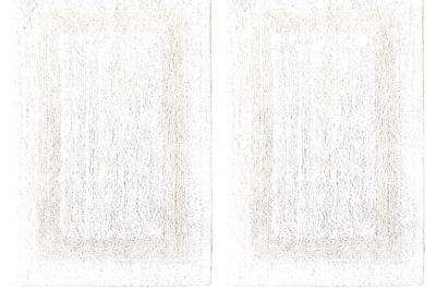 Bath Rugs Mat 2 Piece Cotton Bathroom Floor Soft Large Thick