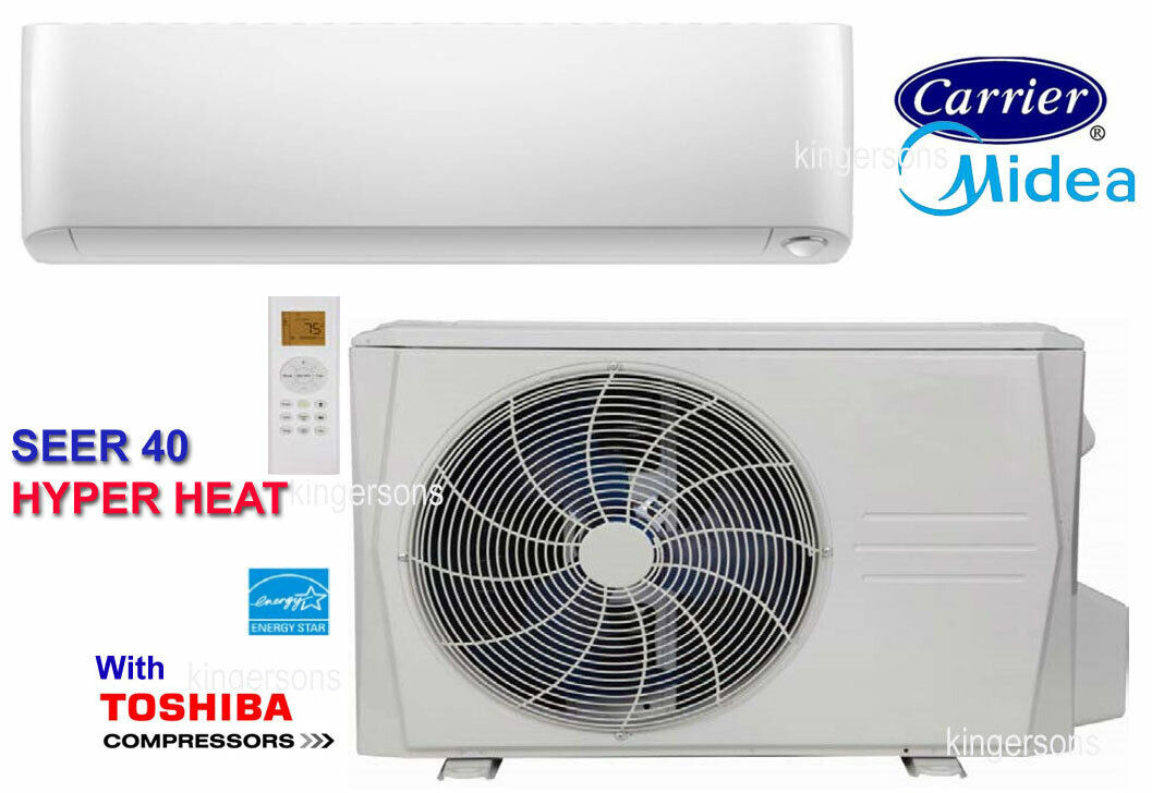 MIDEA CARRIER SEER 40 9000 BTU Ductless Mini Split Air Condi