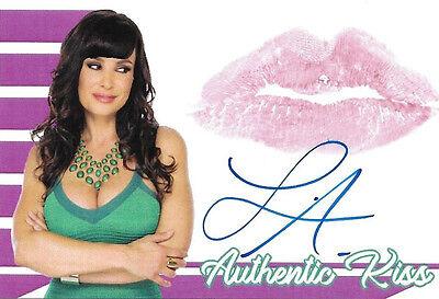 Lisa Ann Signed w/ Lip Print Kiss Card MILF Adult Film Porn Star Photo Autograph